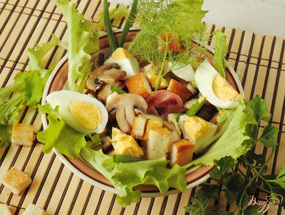 №10 - шампиньоновый салат с сухариками