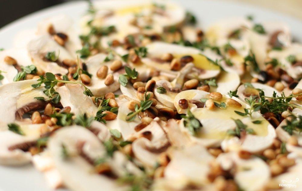 №2 - салат с шампиньонами на скорую руку