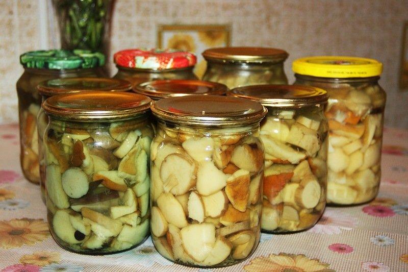 ароматные маринованные белые грибы на зиму в банках, ультра простой рецепт
