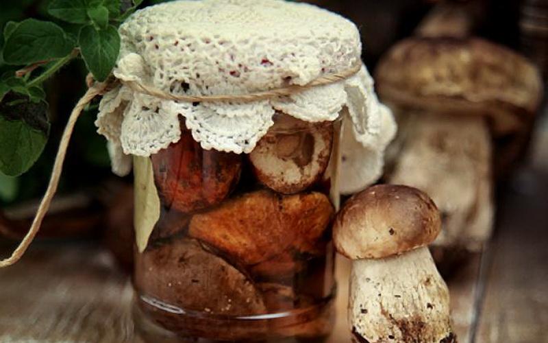 белые грибы, маринованные на зиму с уксусом в банках