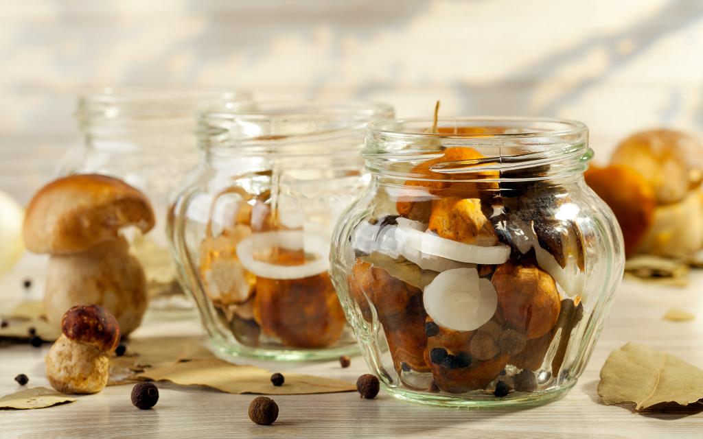 рецепт белых грибов с лимонной кислотой на зиму
