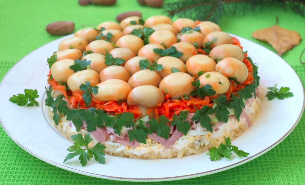 салат грибное лукошко без майонеза, можно ли приготовить