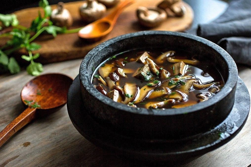 Зимние супы  из сушеных грибов
