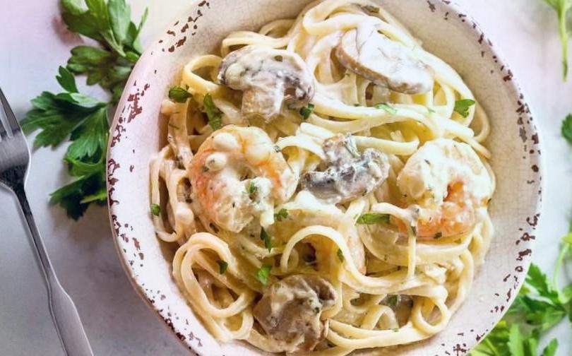 Паста с грибами в сливочном соусе – кусочек Италии на вашем столе