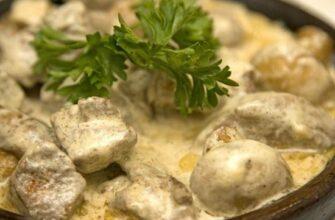 Шампиньоны в сметане в духовке – 4 варианта приготовления