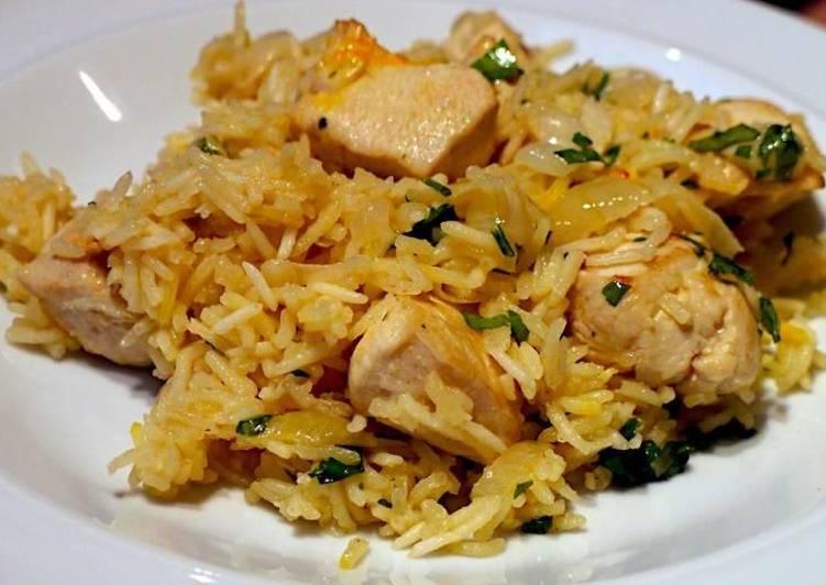 Рис с грибами и курицей, рецепт из Китая