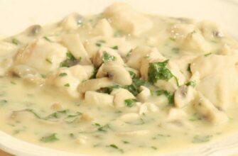Фрикасе из курицы с грибами – французский завтрак, итальянский обед и испанский ужин