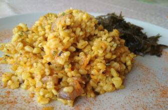 Булгур с грибами - рецепты рисовых каш