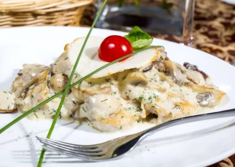 Грибы в сметане на сковороде – 4 лучших рецепта