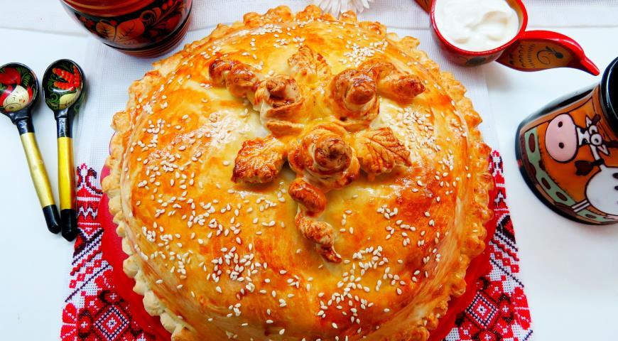 Курник с курицей и грибами пошаговый рецепт